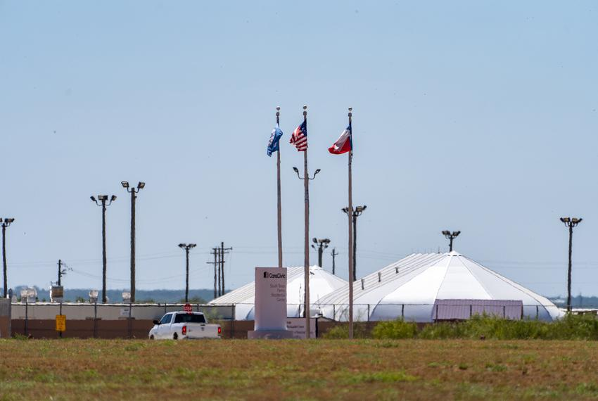 The South Texas Family Residential Center, an Immigration and Customs Enforcement detention center in Dilley, Texas.
