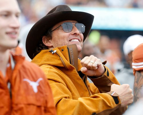 Actor Matthew McConaughey in attendance at a Texas Longhorns football game in this file photo.