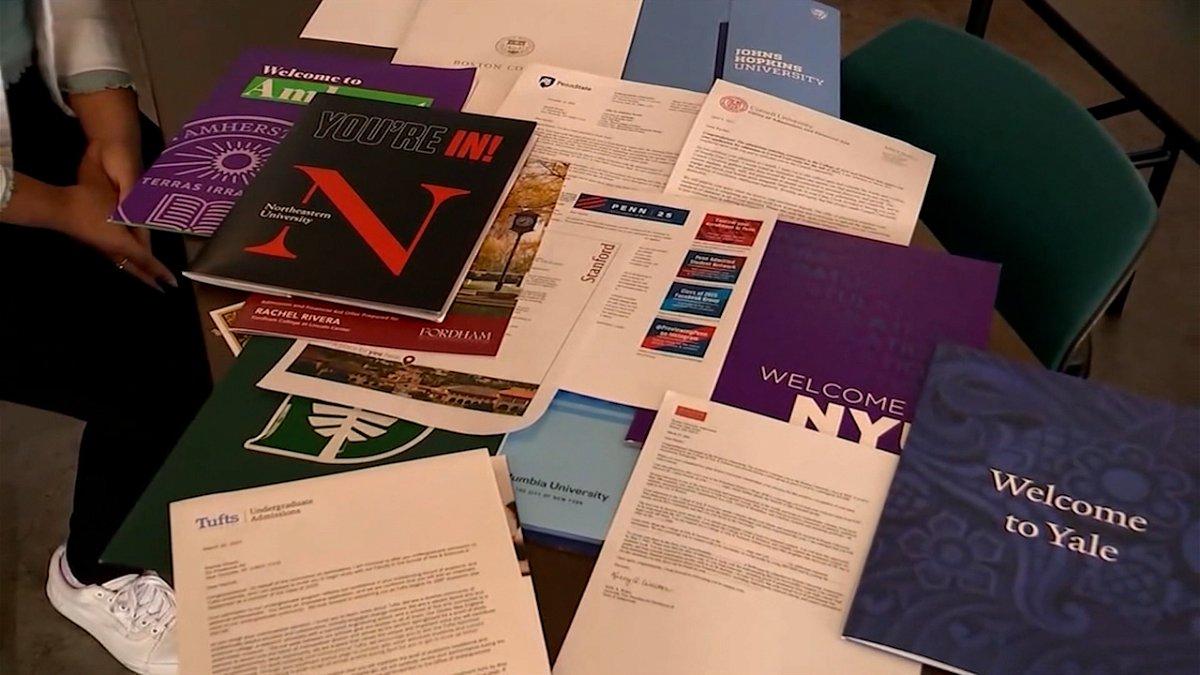 College acceptance letters