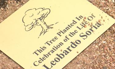Plaque to represent Leo Soria