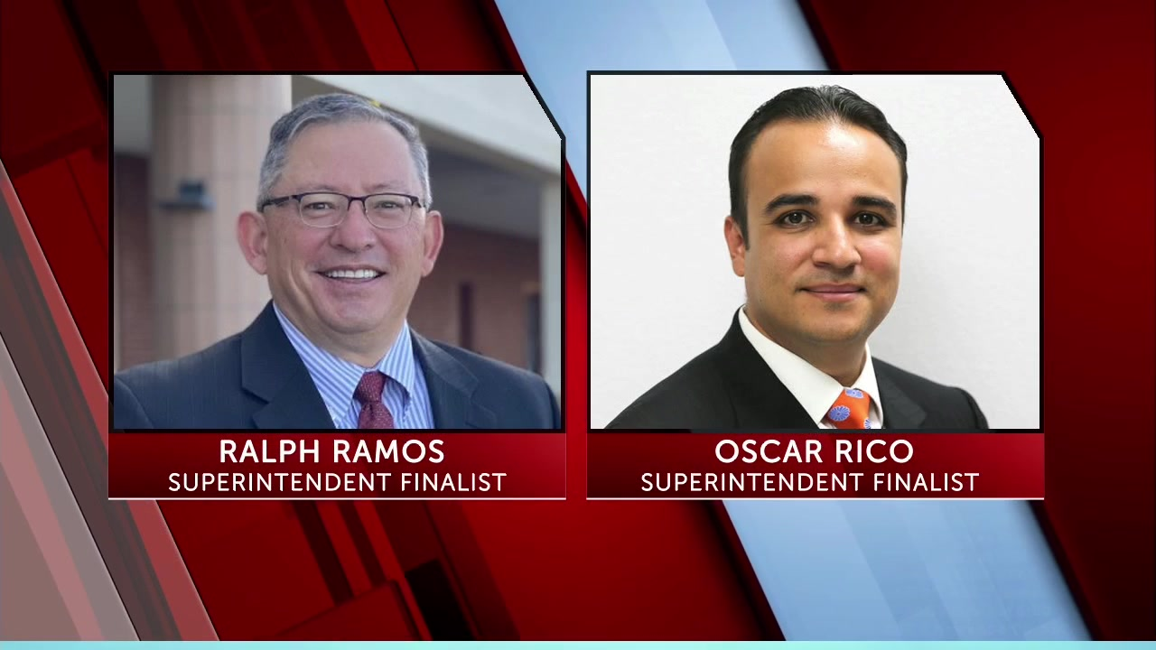 The two LCPS superintendent finalists.