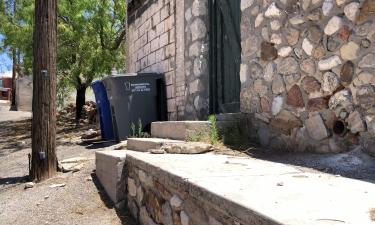 Recycle bin in westside neighborhood