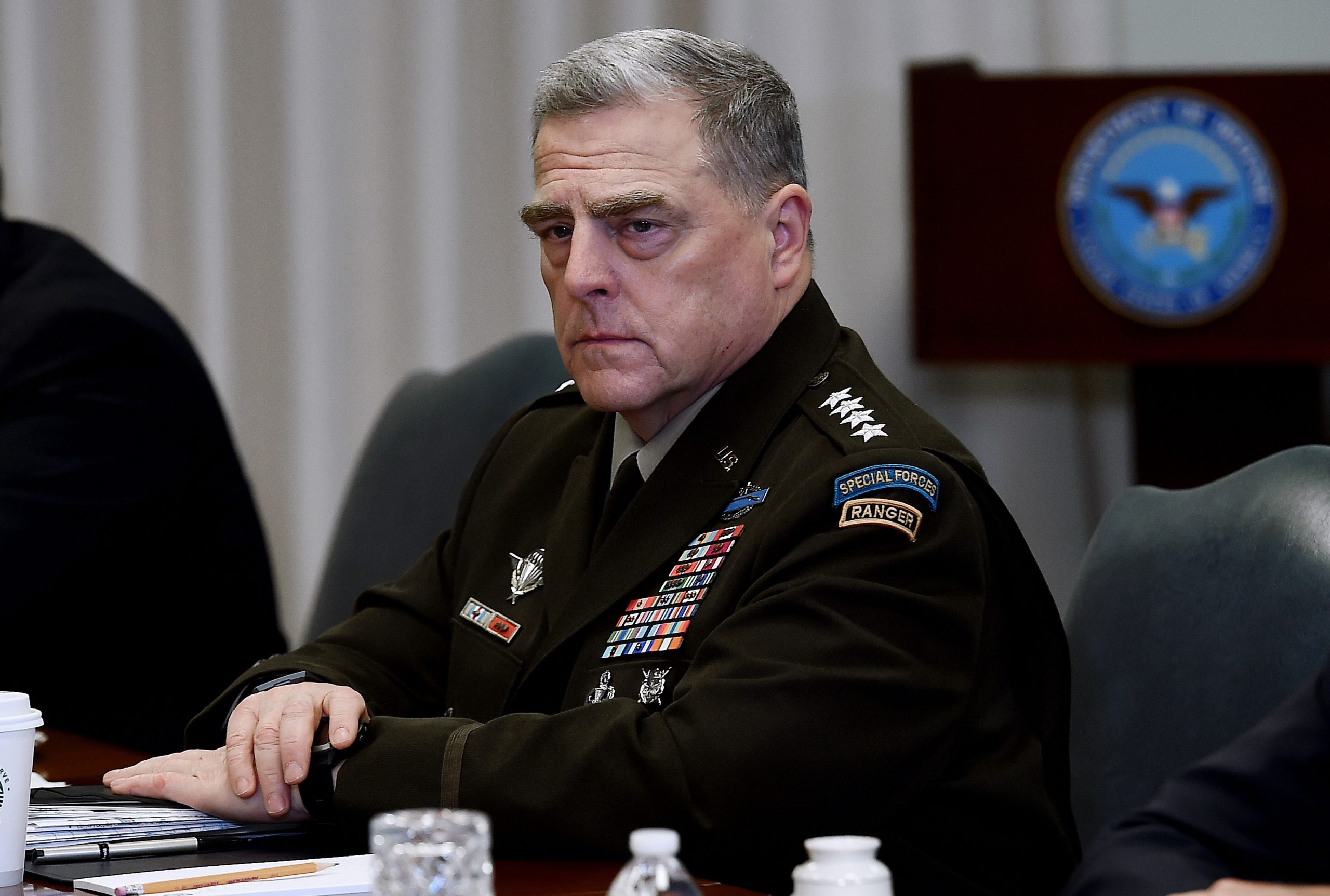 Chairman of the Joint Chiefs of Staff, U.S. Army General Mark Milley.