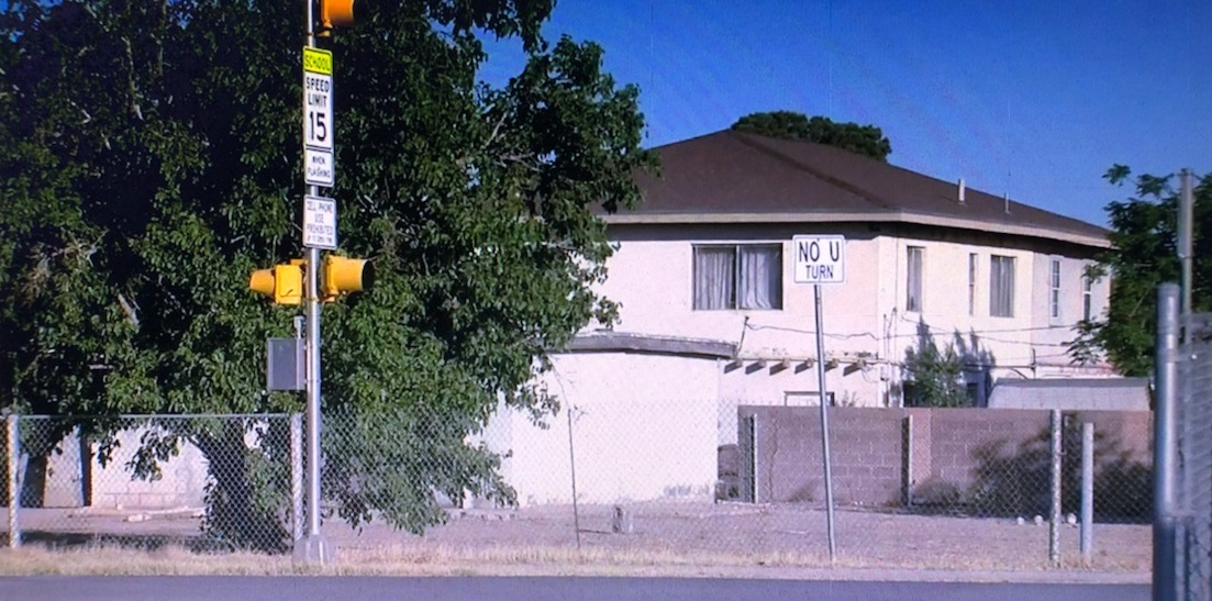 Area where a double shooting occurred along Alameda Avenue in Socorro.