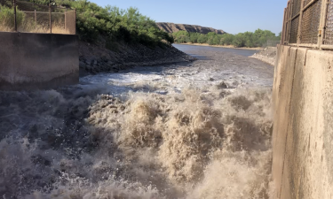 Elephant Butte Irrigation District released water into the Rio Grande