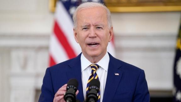 President Joe Biden makes vaccine remarks recently.