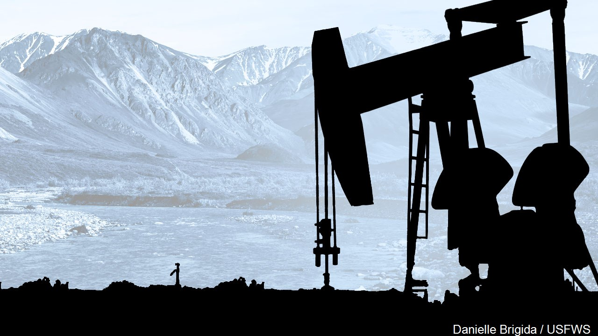 Oil drilling in Alaska's Arctic Refuge.