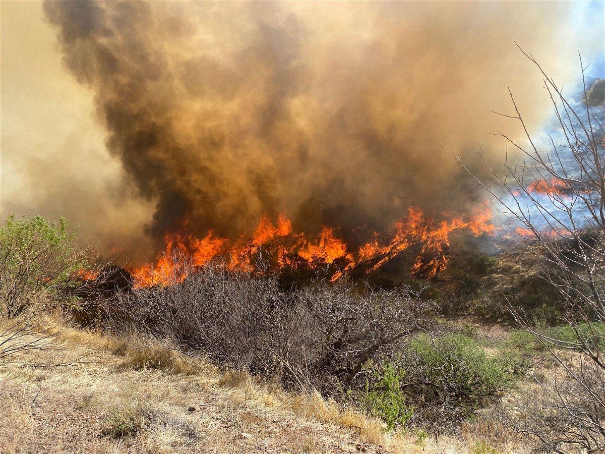One of multiple wildfires burning in Arizona.