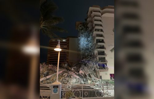 """South Florida authorities were responding early Thursday to a """"partial building collapse in Miami."""