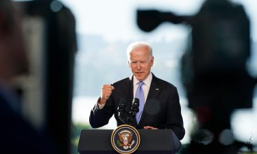 President Joe Biden speaks during a news conference after meeting with Russian President Vladimir Putin