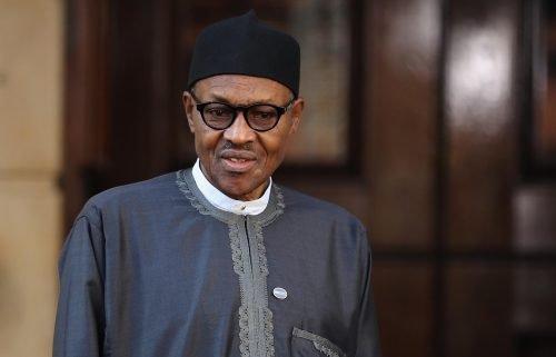 Nigerian President Muhammadu Buhari is shown in 2016