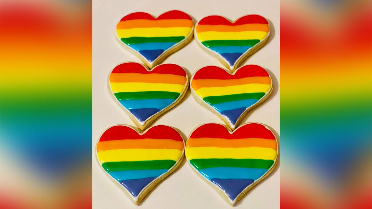 A Texas bakery's Pride-themed sugar cookies.