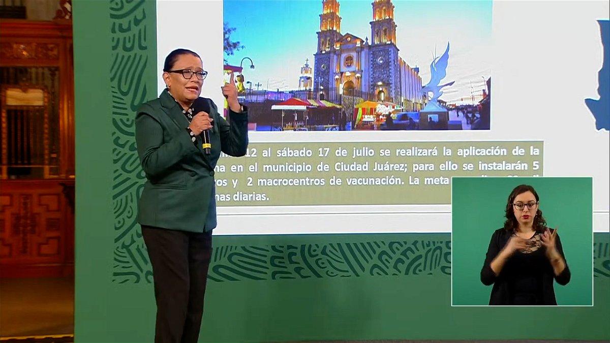 An official discusses Juarez vaccination plans.