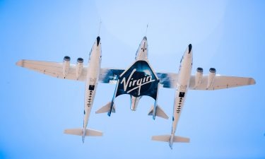 Virgin Spaceship Unity and Virgin Mothership Eve take to the skies on it's first captive carry flight on 8th September 2016. Richard Branson will boldly go where no space baron has gone before when he steps onto the supersonic space plane from his rocket venture