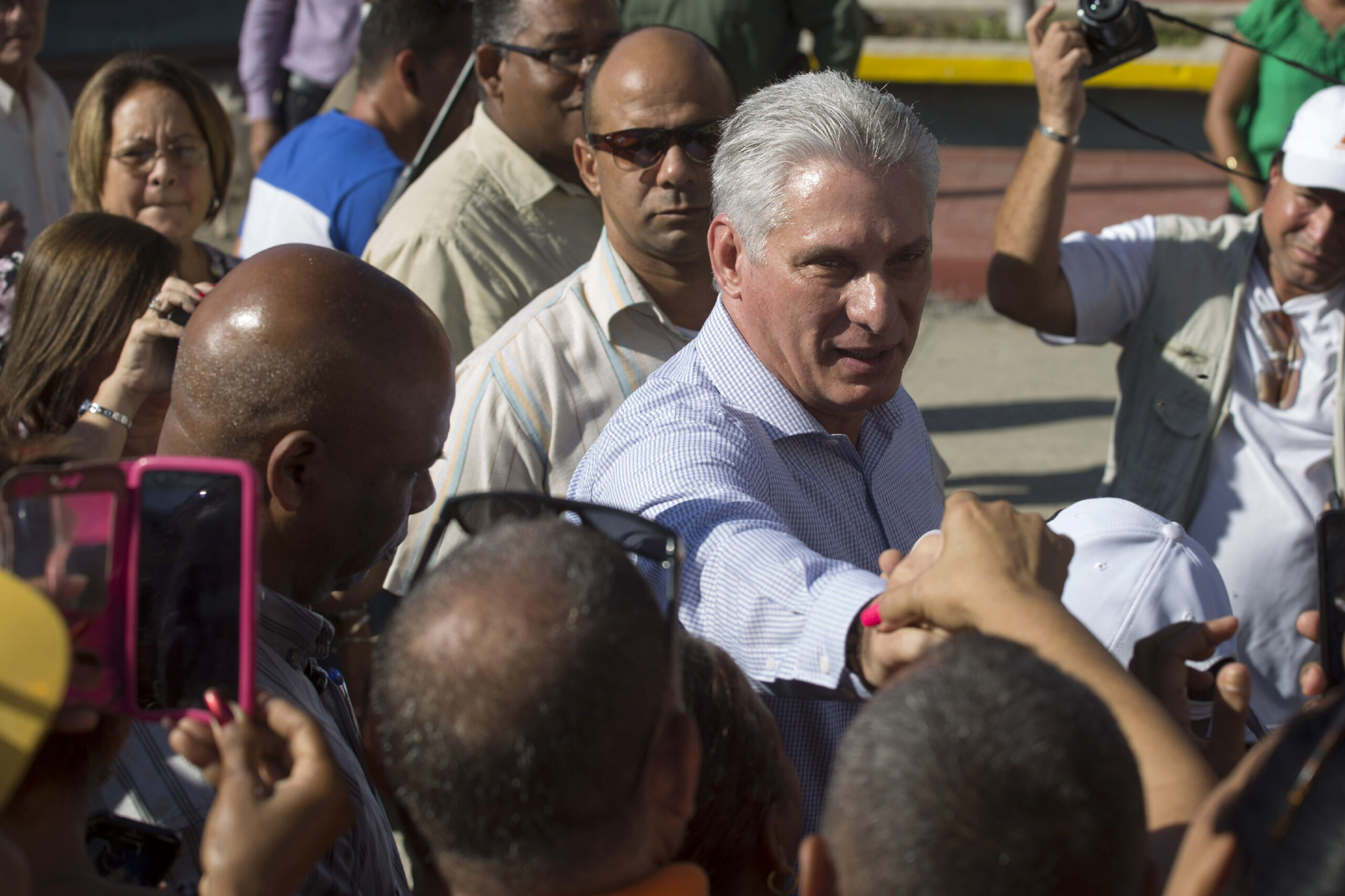 <i>Ismael Francisco/AP</i><br/>Cuba's President Miguel Diaz-Canel has blamed the US government for unprecedented protests across the island.