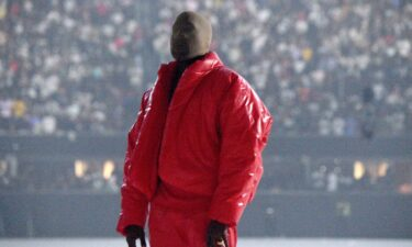 """Kanye West is seen at the """"DONDA by Kanye West"""" listening event at Mercedes-Benz Stadium in Atlanta."""