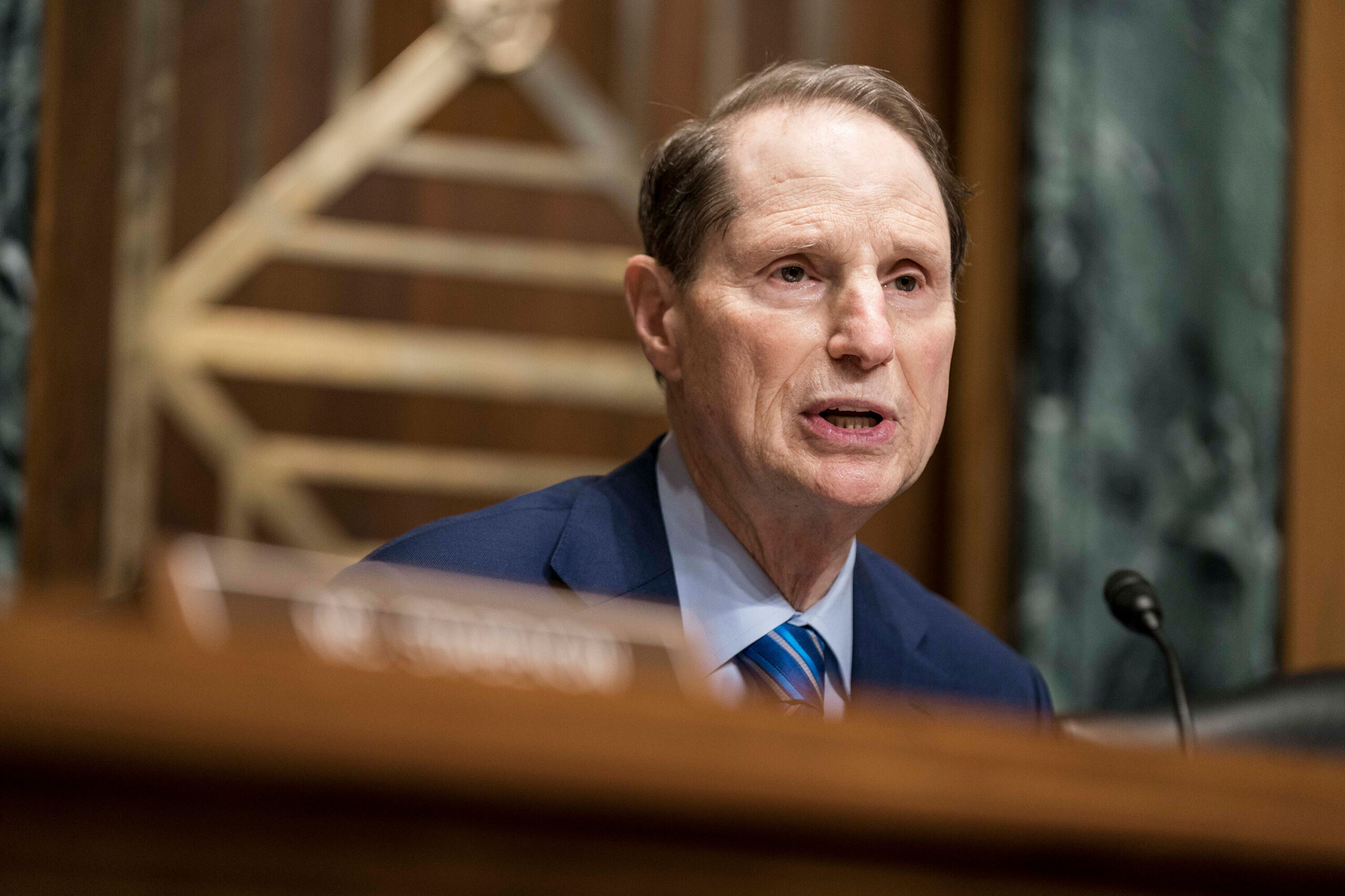 <i>Sarah Silbiger/Getty Images</i><br/>Democratic Sen. Ron Wyden of Oregon will not advance President Joe Biden's pick to lead US Customs and Border Protection until he receives more answers about the agency's role in the Portland unrest last year.