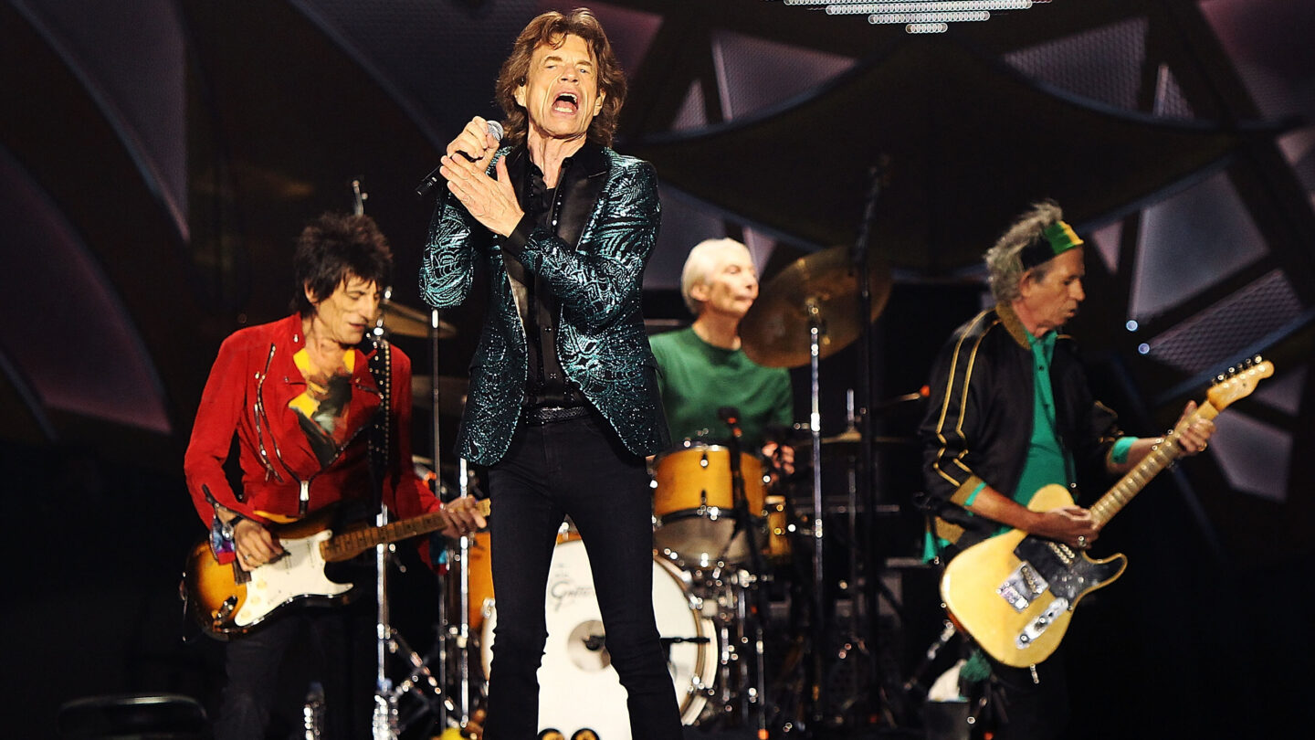 <i>Morne de Klerk/Getty Images</i><br/>The Rolling Stones perform live at Adelaide Oval on October 25