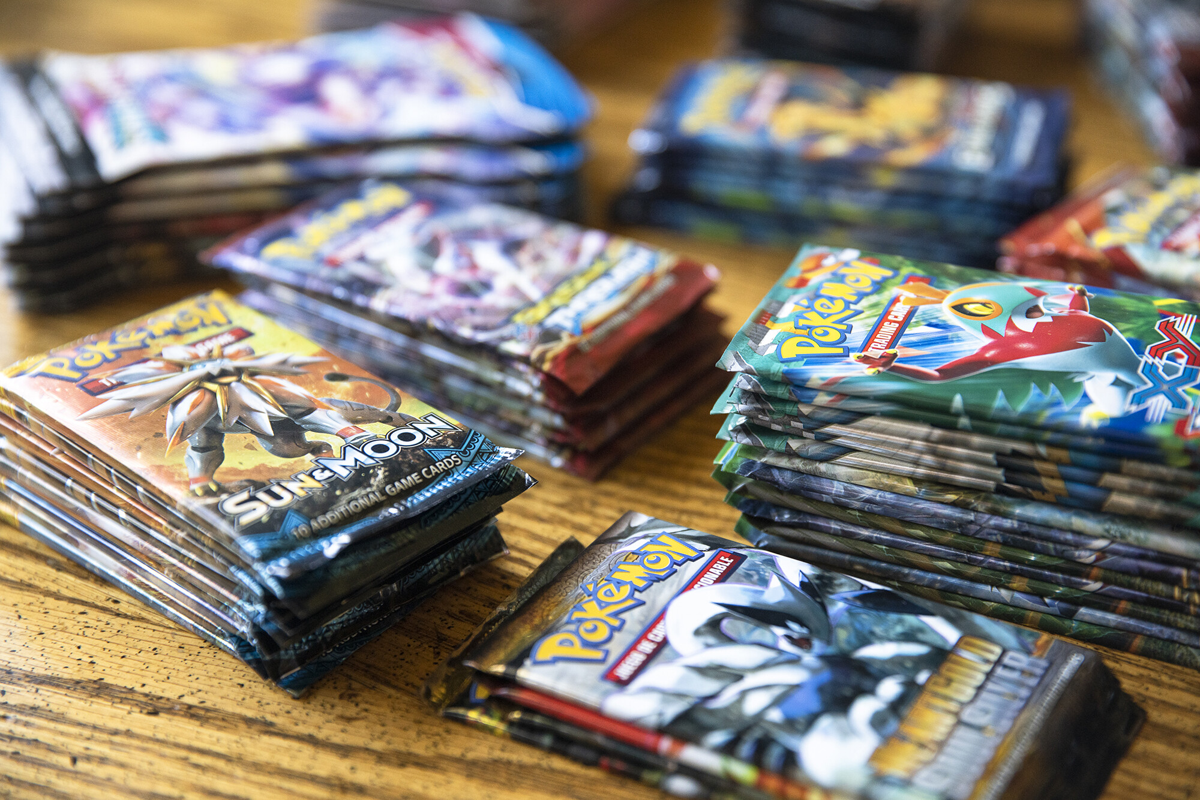 <i>Sara Stathas/Bloomberg/Getty Images</i><br/>Packs of Pokemon Co. cards in Random Lake
