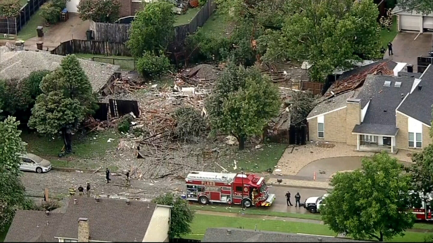 <i>KTVT</i><br/>Six people were injured due to a home explosion in Plano