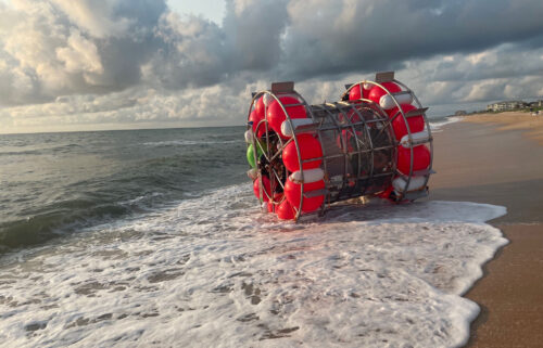 Baluchi brought his bubble vessel back to shore on July 24 because of equipment issues.