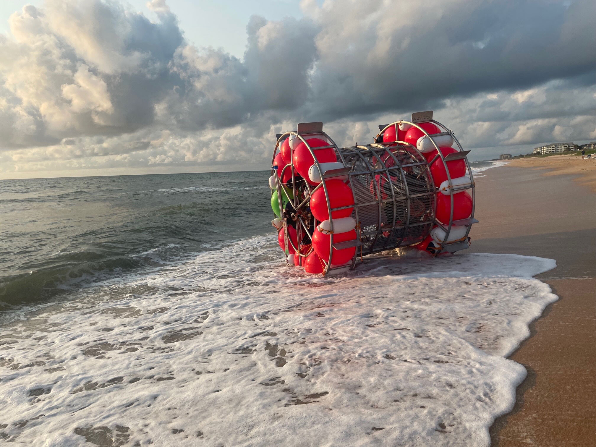 <i>Flagler County Sheriff's Office</i><br/>Baluchi brought his bubble vessel back to shore on July 24 because of equipment issues.
