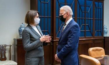 President Joe Biden met with Belarusian opposition leader Svetlana Tikhanovskaya Wednesday.