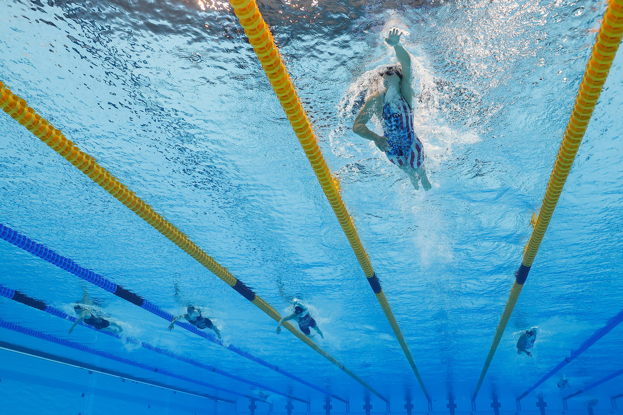 <i>Stefan Wermuth/Reuters</i><br/>Katie Ledecky won the sixth Olympic gold medal of her career in Tokyo.