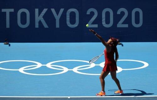 Naomi Osaka put in an impressive serving performance against China's Saisai Zheng.