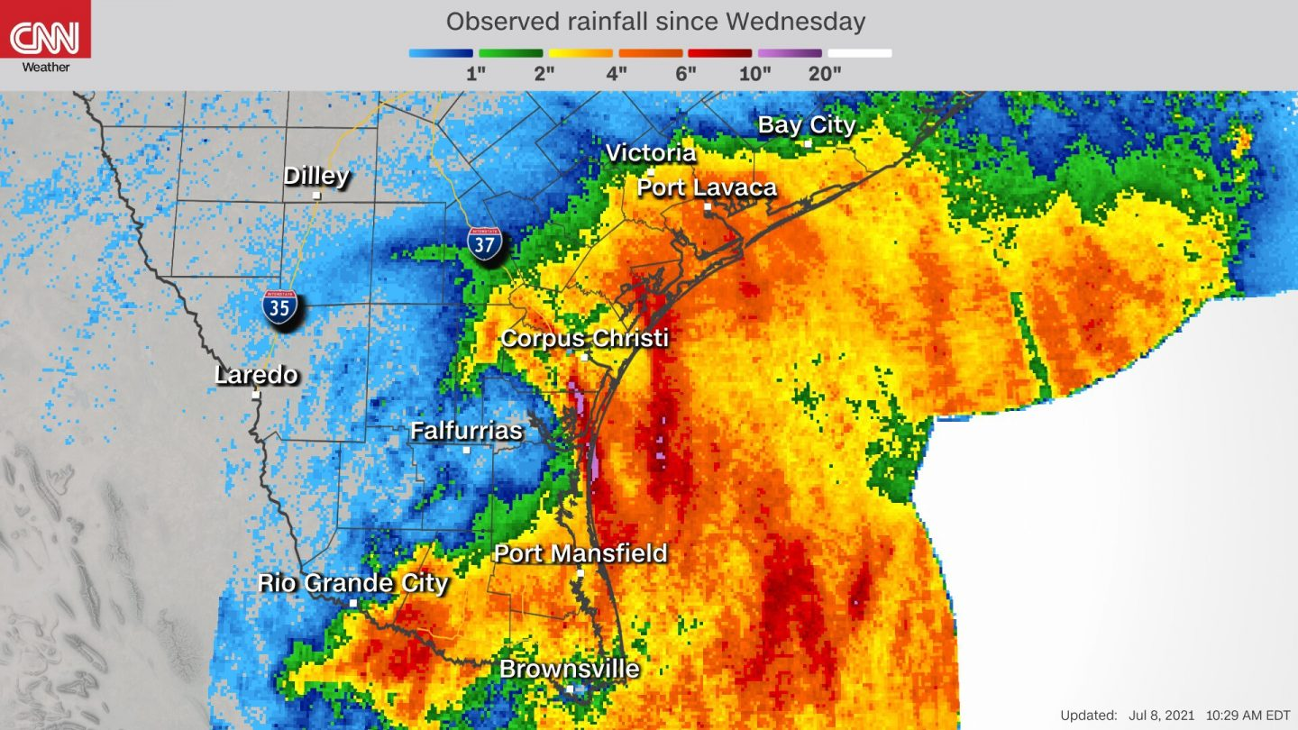 <i>CNN Weather</i><br/>A flash flood emergency was issued for Rockport and Fulton