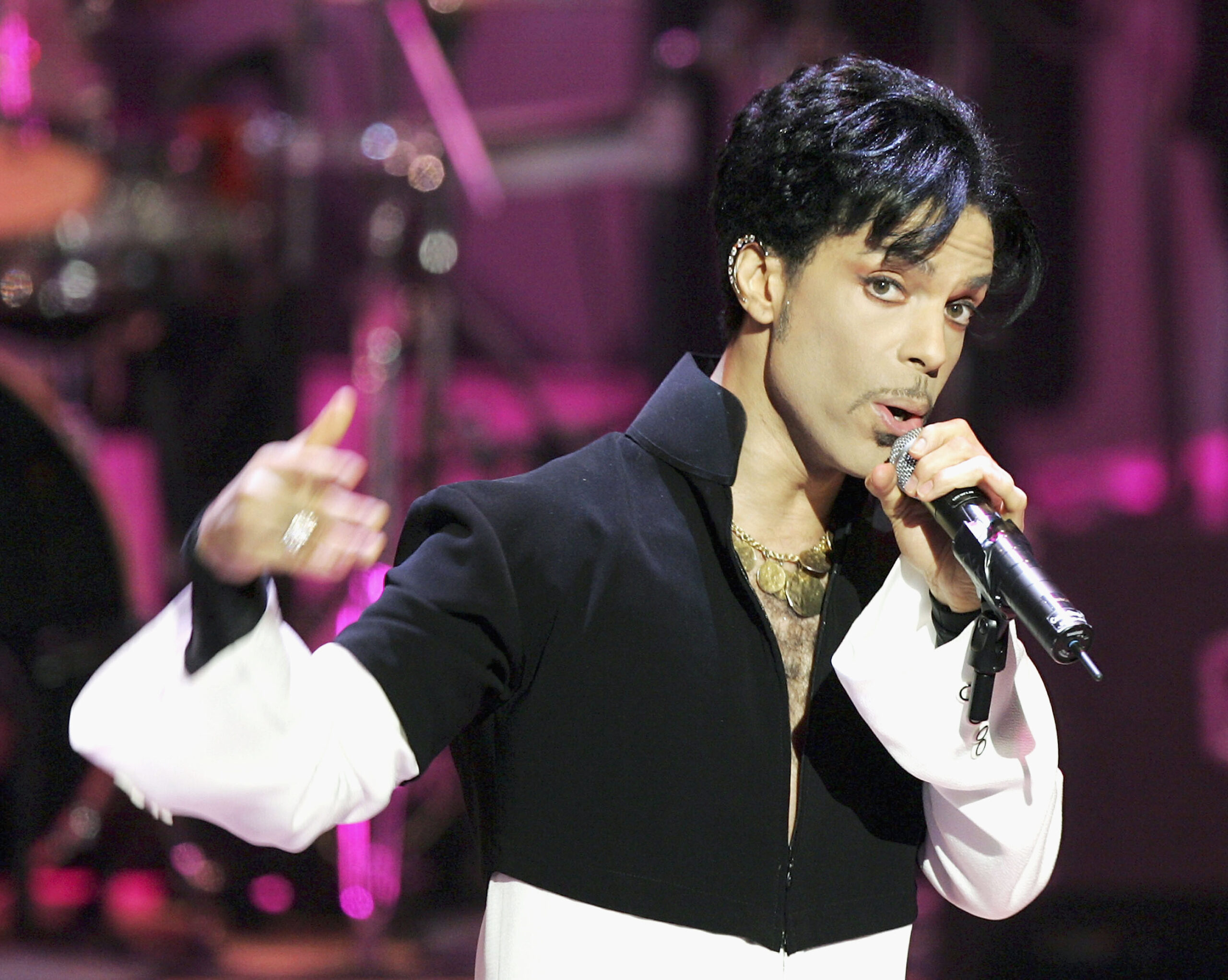 <i>Kevin Winter/Getty Images North America/Getty Images</i><br/>Musician Prince performs onstage at the 36th Annual NAACP Image Awards at the Dorothy Chandler Pavilion on March 19