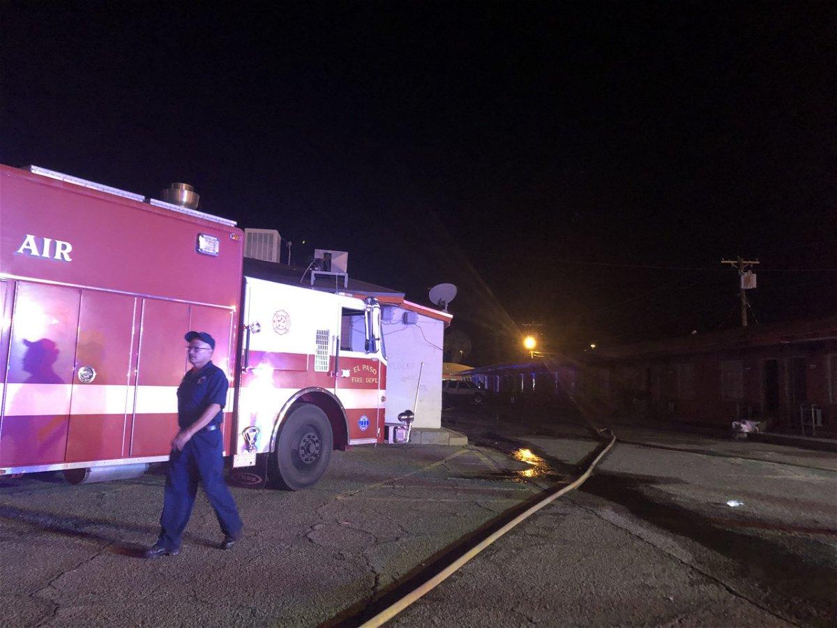 El Paso fire department crews responding to a fire at a northeast El Paso apartment complex.