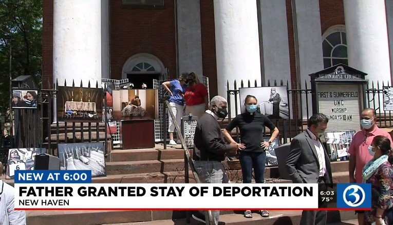 <i>WFSB</i><br/>Homeland security granted Nelson Pinos a one-year stay. Nelson Pinos came to the U.S. almost 30 years ago and four years ago