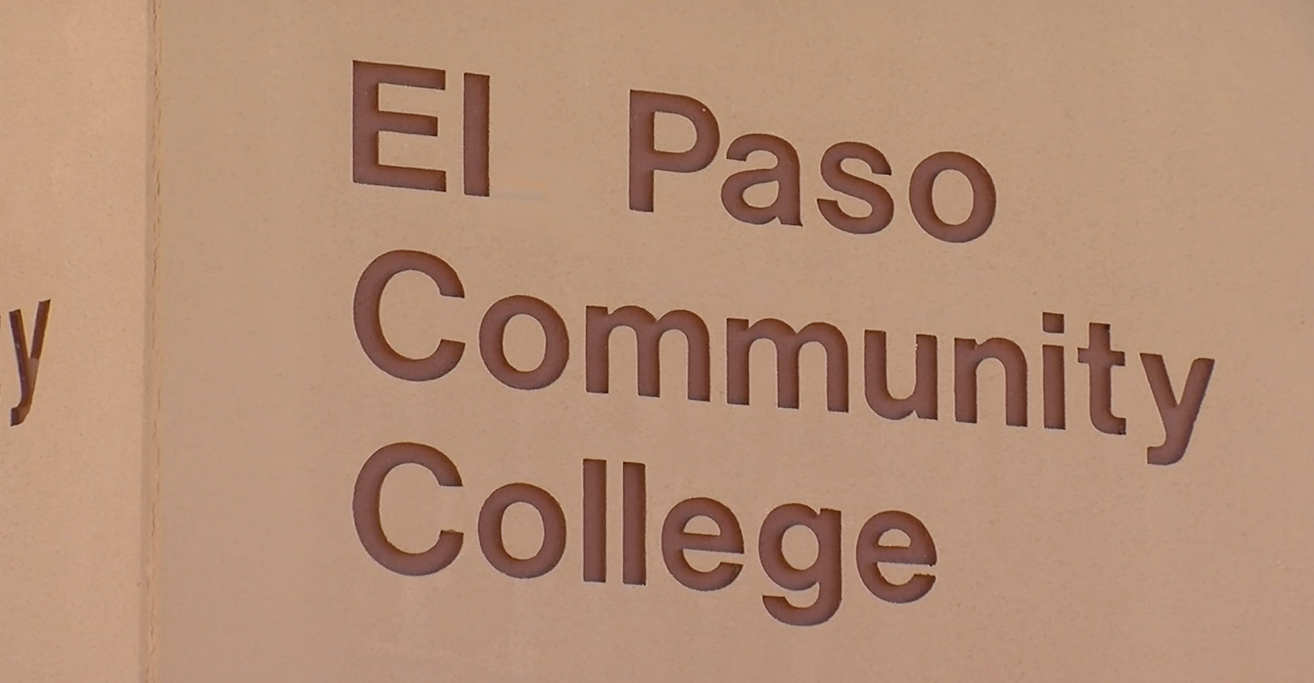 A sign outside the El Paso Community College Transmountain campus.