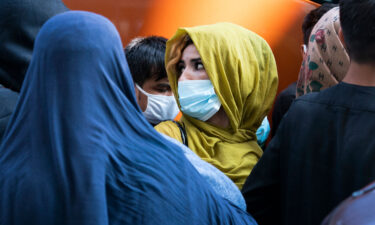 Families evacuated from Kabul