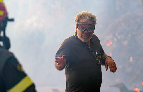 Firefighters work to put out fires in Cugliari