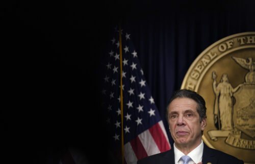 New York Gov. Andrew Cuomo speaks during an event at his office on March 18