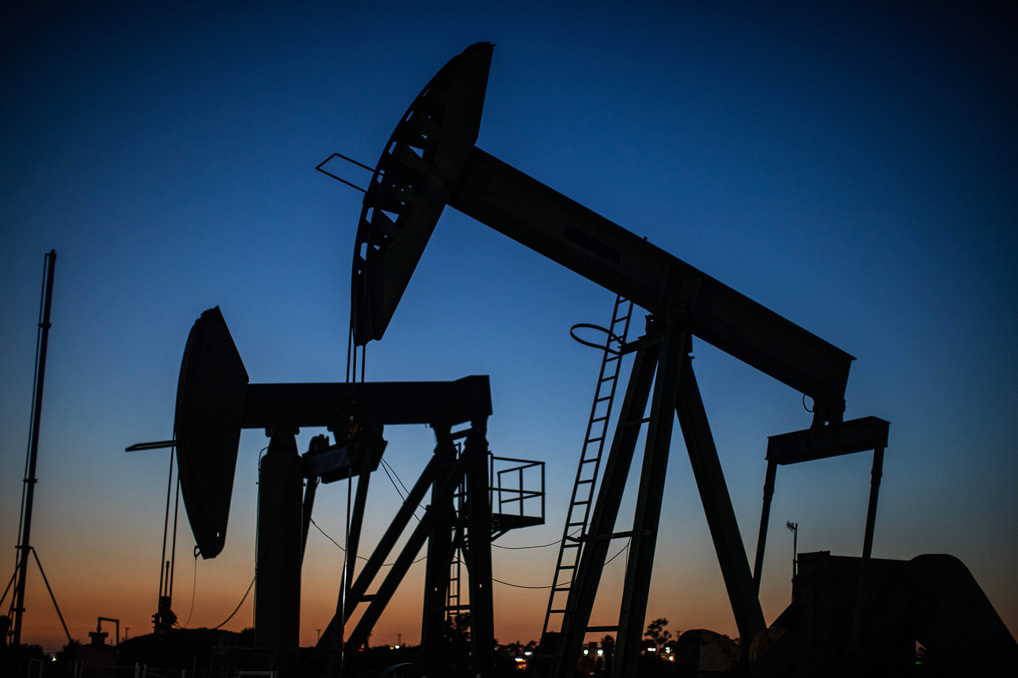 <i>Apu Gomes/AFP/Getty Images</i><br/>Pro-fossil fuel Facebook ads were viewed 431 million times — in one year. This image shows oil pumpjacks at Willow Springs Park in Long Beach