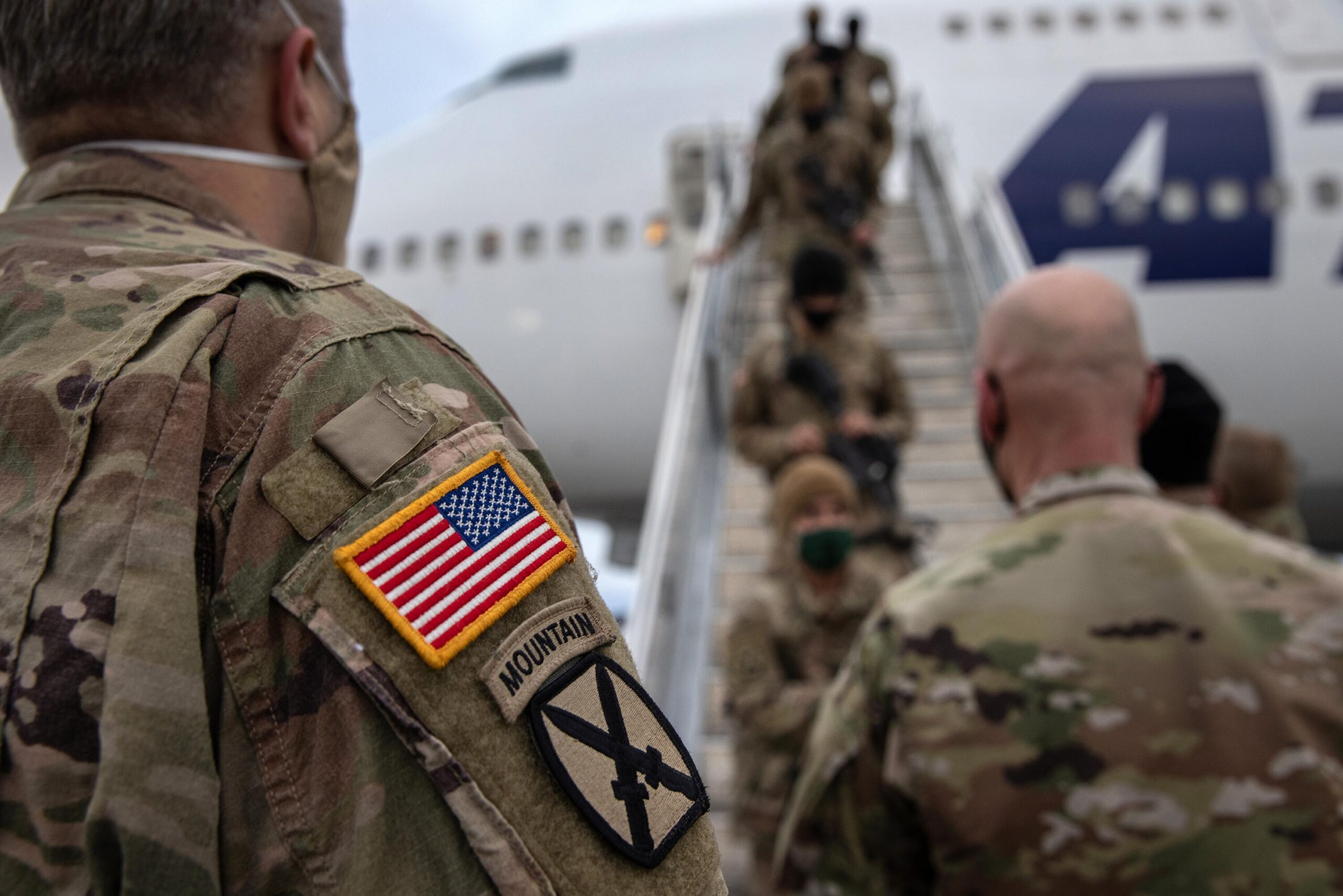 <i>John Moore/Getty Images</i><br/>10th Mountain Troops Return To Fort Drum As Part Of US Drawdown From Afghanistan.