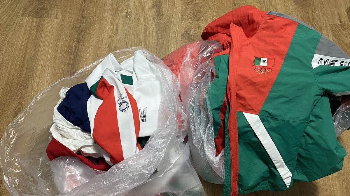 Mexico softball team uniforms that were reportedly found in the trash.