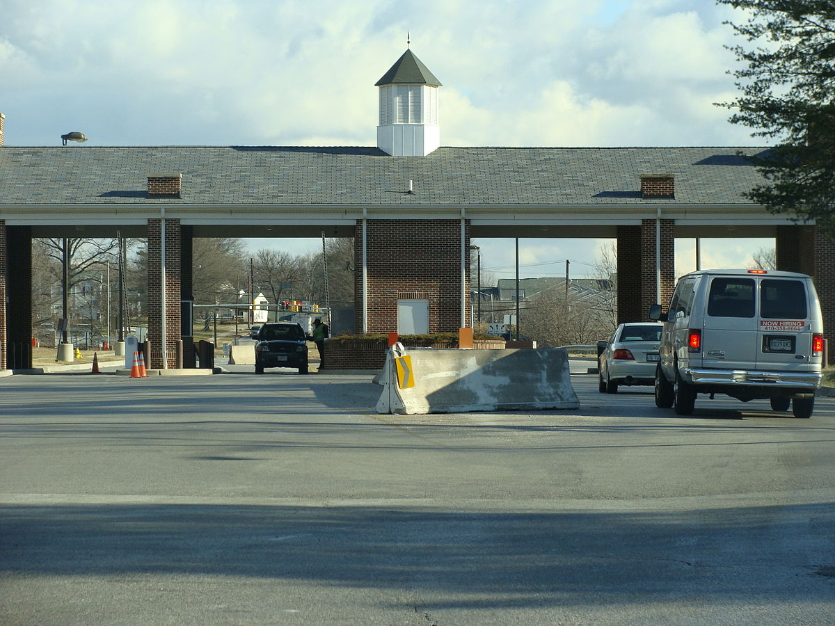 Main entrance to US Army Post, Fort George G. Meade, MD.