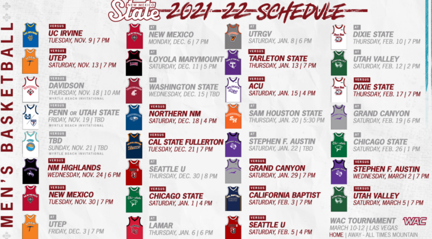 NMSU BBALL SCHEDULE USE THIS