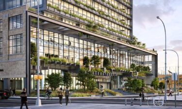 Rendering of the Manhattan office building Google has purchased for $2.1 billion.