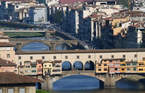 US tourists wanting to see the Ponte Vecchio