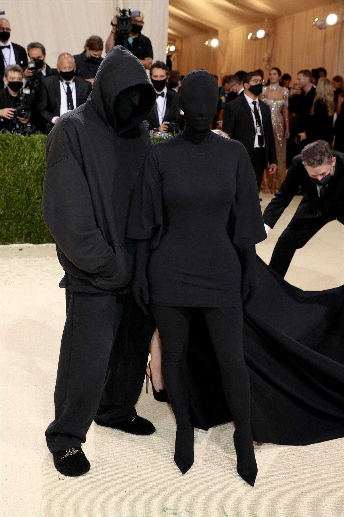<i>Dimitrios Kambouris/Getty Images</i><br/>Demna Gvasalia and Kim Kardashian West at the 2021 Met Gala on September 13