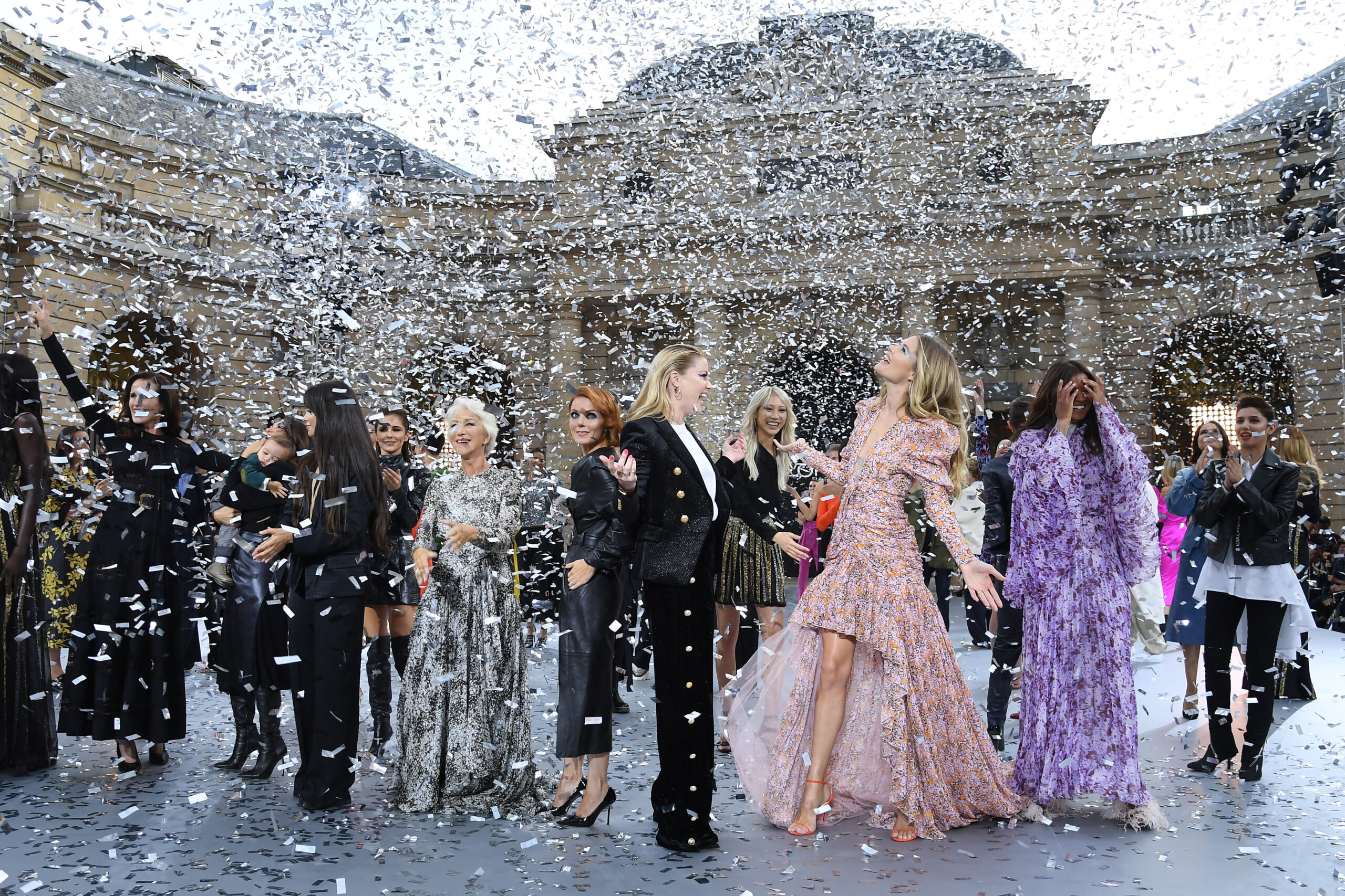 <i>Pascal Le Segretain/Getty</i><br/>The finale of L'Oreal's last physical show at Paris Fashion Week