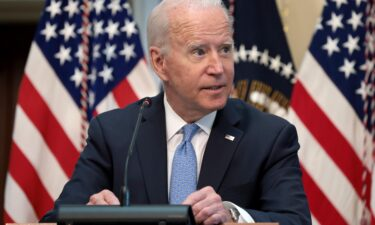 President Joe Biden speaks during an event in the Executive Office Building on September 15 in Washington