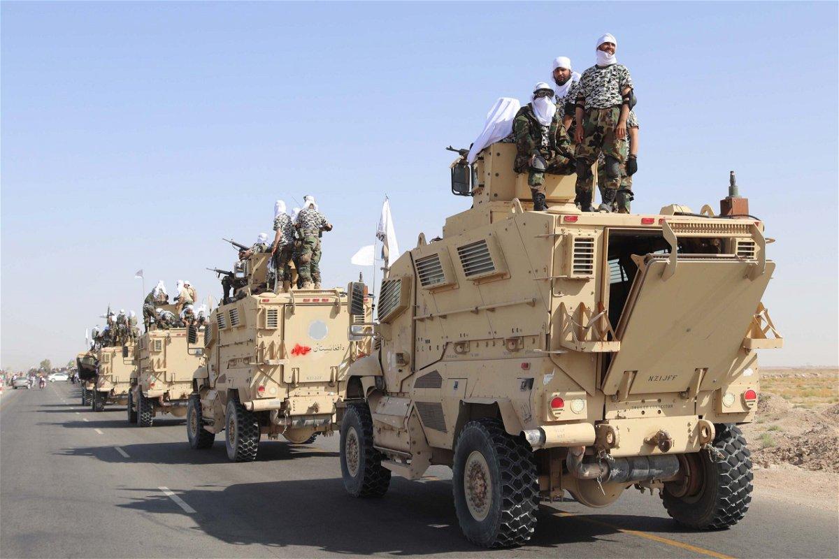 <i>Stringer/EPA-EFE/Shutterstock</i><br/>Taliban forces in Afghanistan.