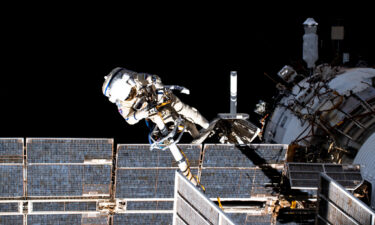 Russian cosmonauts head outside the space station for their second spacewalk in less than a week. Pictured is cosmonaut Pyotr Dubrov performing a spacewalk.