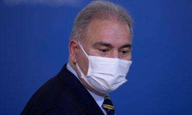Brazilian Health Minister Marcelo Queiroga at Palacio do Planalto